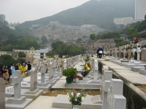 view from lower cemetery