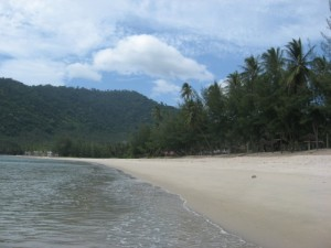 an empty beach in thailand? who would have thought