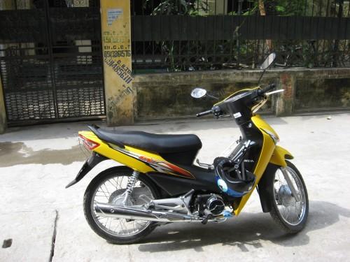 yellow honda wave alpha